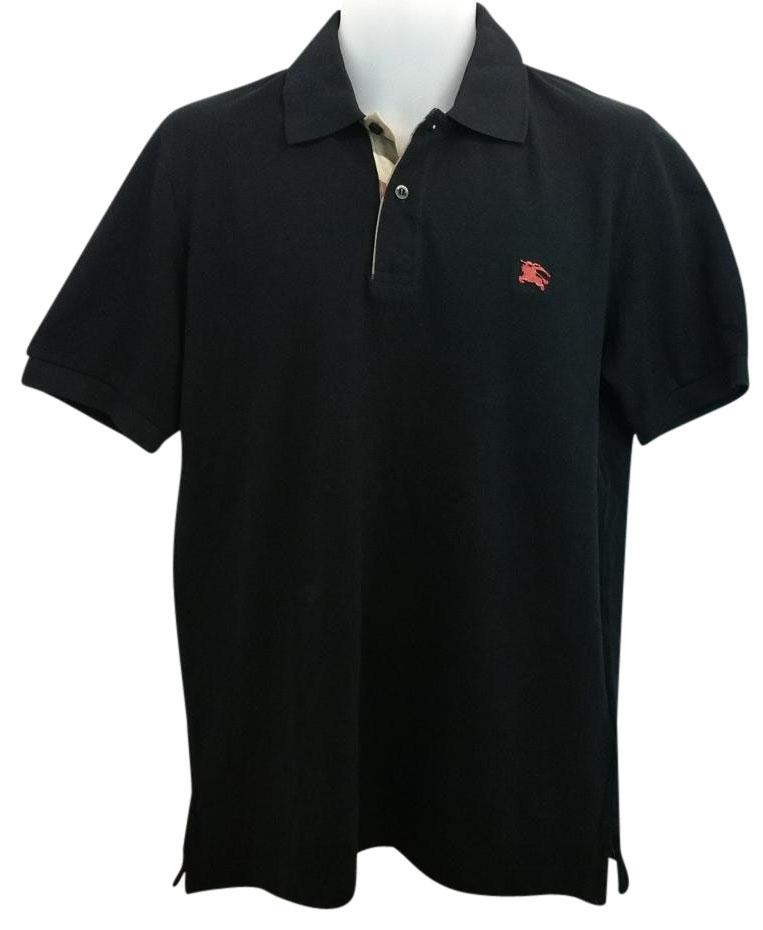 black and red burberry shirt