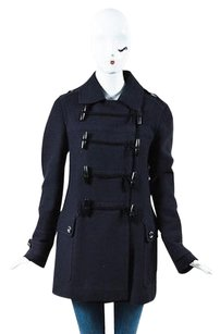 Burberry Brit Navy Wool Pea Coat