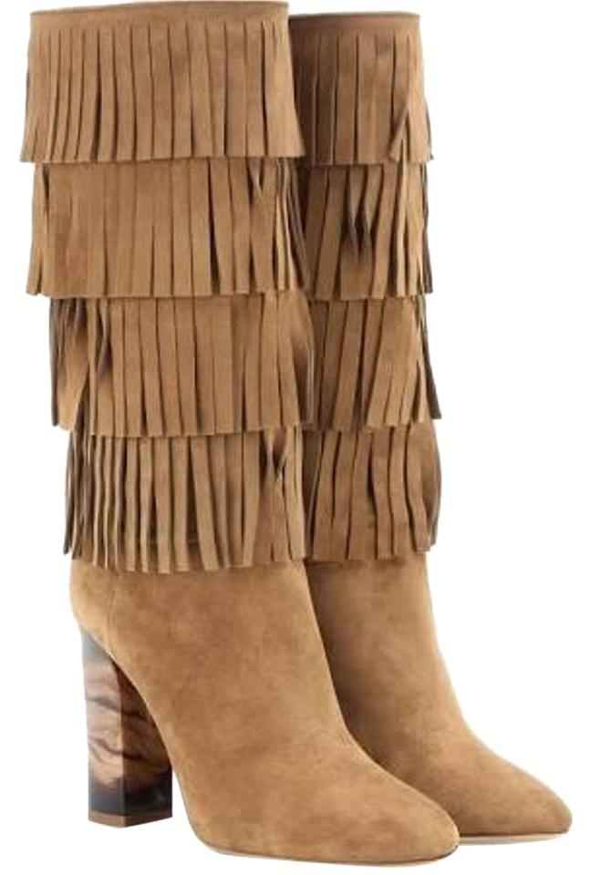Burberry Brown Jazmine Fringed Suede 6.5/36.5 Boots/Booties Size US 6.5 Regular (M, B)