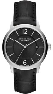 Burberry BU10300 Men's Classic Round AUTOMATIC Watch ALLIGATOR Strap