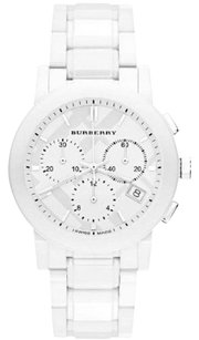 Burberry BU9080 Authentic White Ceramic Chronograph Unisex Watch