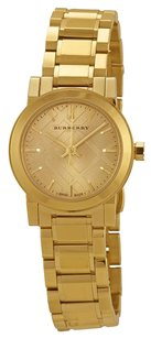 Burberry BU9227 The City Champagne Dial Gold-tone Ladies Watch