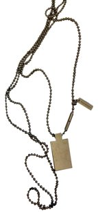 Burberry Burberry BNWTdark nickel beaded chain perfume charm and Burberry tag necklace