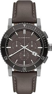 Burberry Burberry Leather Chronograph Mens Watch
