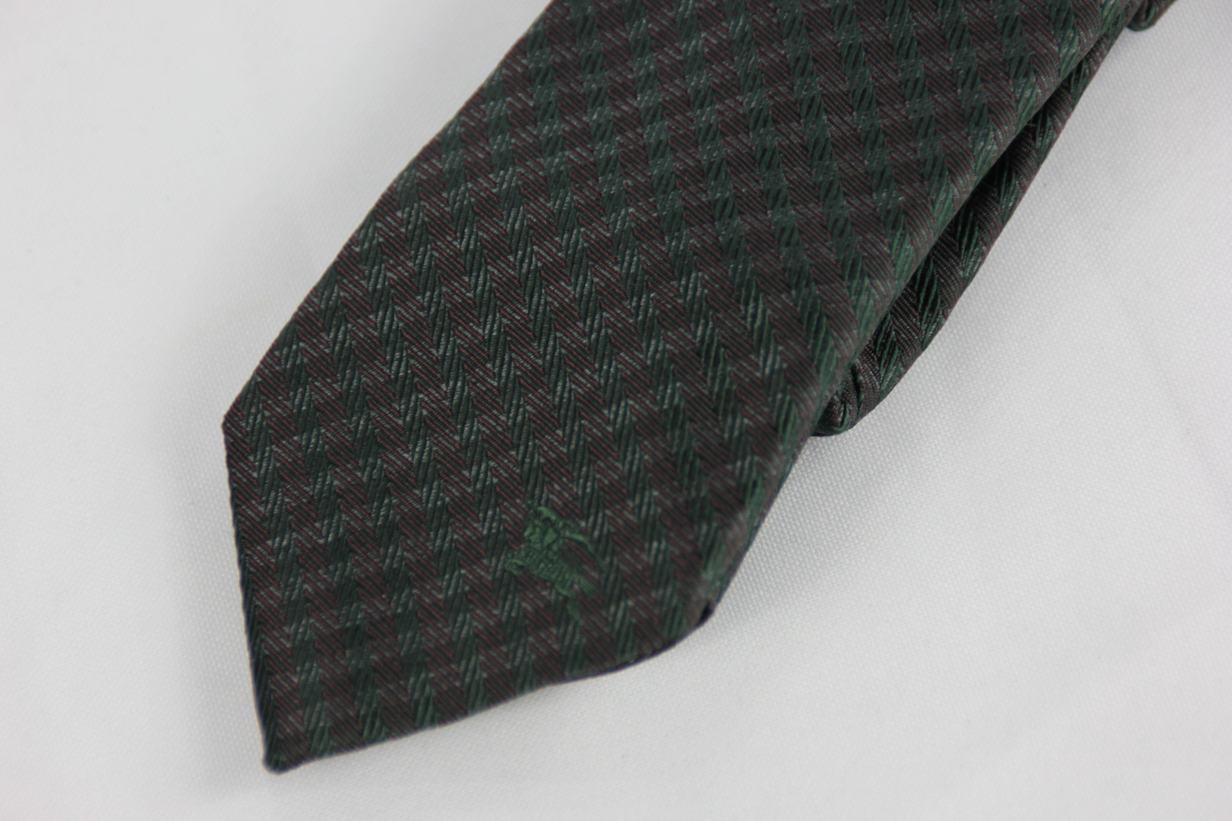 black and white burberry tie