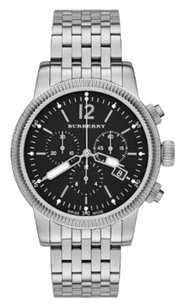 Burberry BU7839 Burberry the Utilitarian Stainless Black Dial Chronograph Mens Watch