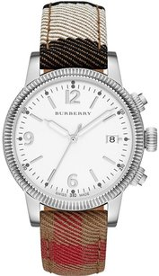 Burberry Burberry The Utilitarian Housecheck Fabric & Leather Watch BU7824