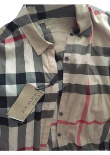 Burberry Button Down Shirt Pale Stone