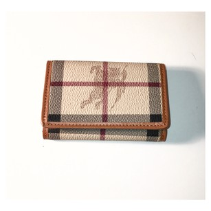 Burberry Canvas & Leather Check 6 Key Holder