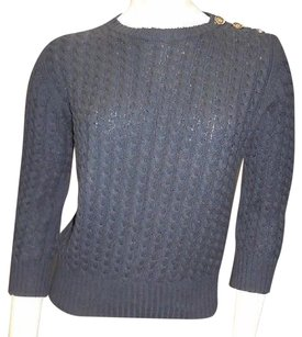 Burberry Cotton 34 Sleeved Crewneck Knit Hs3045 Sweater