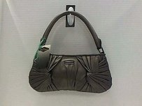 Burberry Lether Silver Gray Clutch
