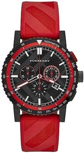 Burberry Burberry,The,City,Red,Rubber,Chronograph,Mens,Watch,Bu9805