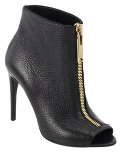 Burberry Fashion Peep Toe Black Boots