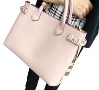 Burberry Leather Tote in Pale Orchid