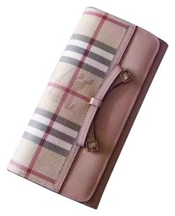 Burberry Nova Check Coated Canvas Bow Tie Continental Wallet
