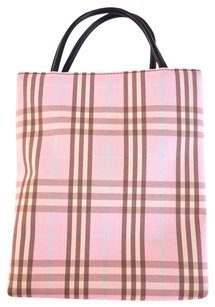 Burberry Novacheck Pink Mini Tote in Pink, Plaid