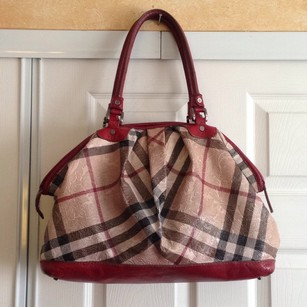 Burberry Paisley Nova Check Leather Shoulder Bag
