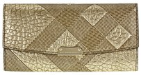 Burberry Porter Check Leather Embossed Clutch