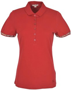 Burberry Women's Polo T Shirt Red