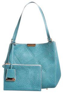 Burberry Tote in Aqua Blue