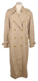 Burberry Trench Rain Plaid Missing Belt Trench Coat