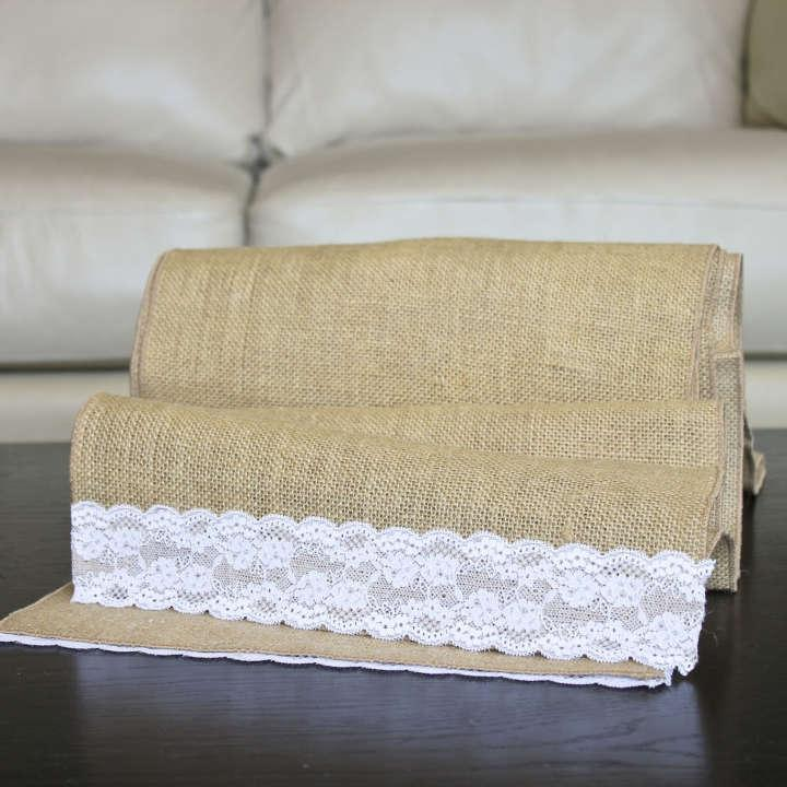 Burlap Six 120 Inch Table Runners Other