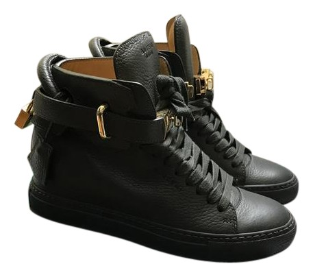 Buscemi Anthracite Lock Sneaker Heel Boot Wedges Size US 7