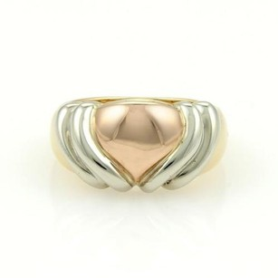 BVLGARI Bulgari Bvlgari 18k Yellow White Rose Gold Heart Ring