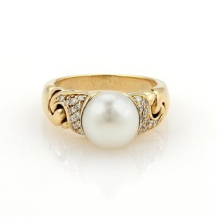 BVLGARI Bulgari Bvlgari Diamonds Pearls 18k Yellow Gold Ring