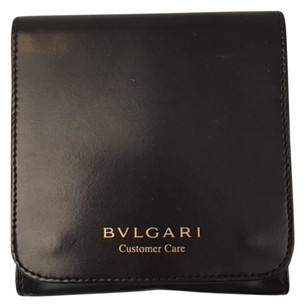 BVLGARI Bvlgari Leather Suede Earrings Storage Pouch Case.