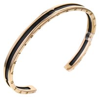 BVLGARI B.Zero1 Cuff Bracelet in 18k Rose Gold and Coated Steel, 7.41