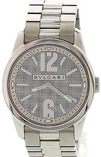 BVLGARI Mens Bvlgari Solotempo Stainless Steel Watch St37s W Box Papers
