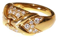 BVLGARI Vintage BVLGARI Diamond 18k Yellow Gold Ring