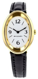 BVLGARI Women's Damen Ovale OV32G Wrist Watch in 18K Yellow Gold WTBVY4