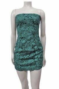 C. Luce Lace Strapless Dress