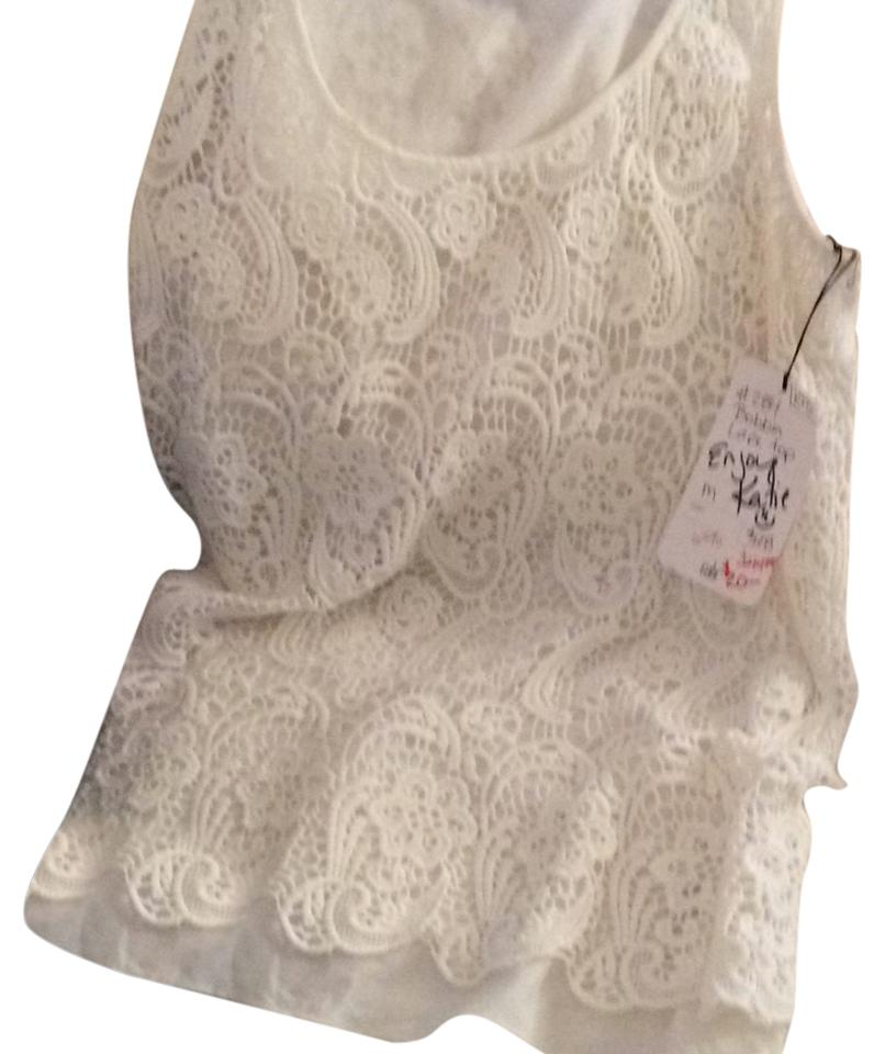 Cabi bobbin lace top