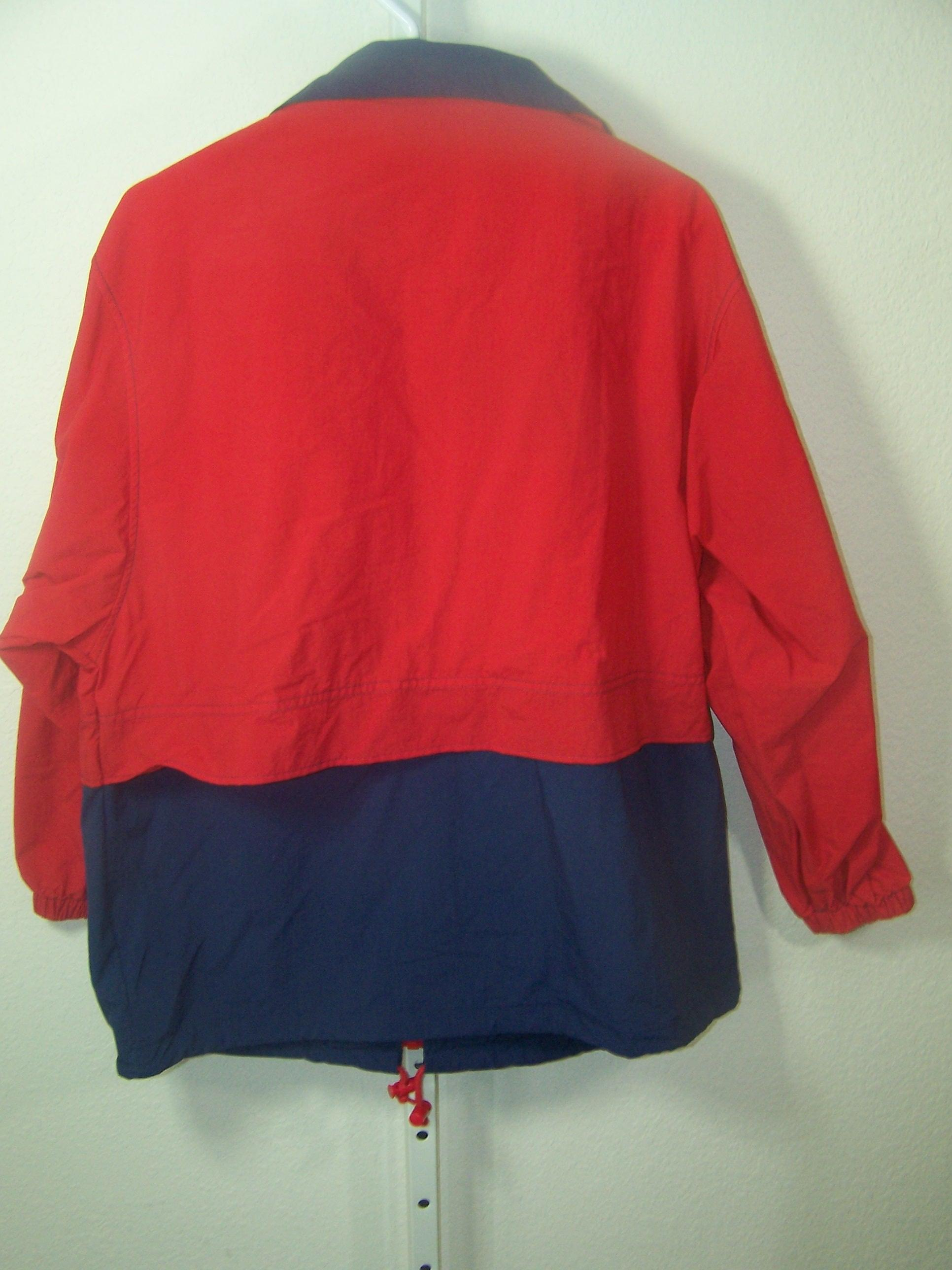 Cabin Creek Red With Blue Bottom And Trim Windbreaker Spring Jacket ...