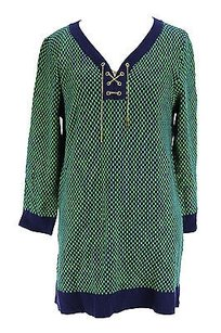 Cable & Gauge Checkered Womens Sweater