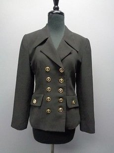 Cache Cache Black Double Breasted Blazer W Long Sleeved And Gold Buttons Sma1720