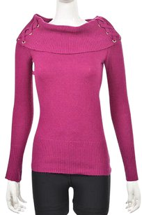 Cache Womens Cowl Neck Cotton Long Sleeve Shirt Sweater