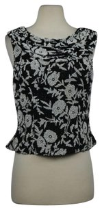 Cache Womens Floral Top Black