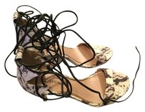 Call It Spring Leather Stiletto Snake Skin/Brown & Natrual Pumps