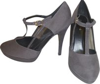 Call It Spring Nwt Micro Suede Pump Grey Pumps
