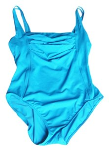 Calvin Klein Calvin Klein Size 10 Solid Pleated One Piece Swimsuit