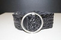 Calvin Klein Calvin Klein Black Braided Belt With Silver Buckle Small Bin 495