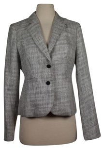 Calvin Klein Calvin Klein Womens Gray White Blazer Metallic Basic Jacket