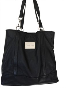 Calvin Klein Leather Lined Tote in Black