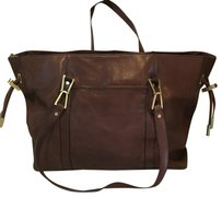Calvin Klein Leather Tote in Brown