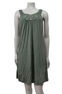Calvin Klein short dress Olive Lace Neckline Shift Pull On on Tradesy
