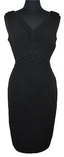 Calvin Klein 22 34 Womens V Neck Tiered Bodycon Pencil Size Dress